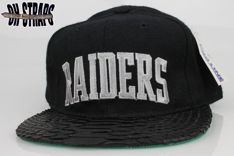 VINTAGE,Raiders,Starter,Arc,Snakeskin,Strapback,Hat,*1,of,1*
