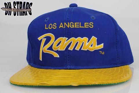 VINTAGE,LA,Rams,SS,Script,Snakeskin,Strapback,Hat,*1,of,1*
