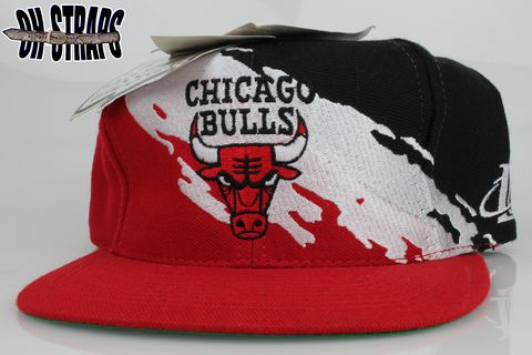 Vintage,Chicago,Bulls,Splash,Snapback,Hat