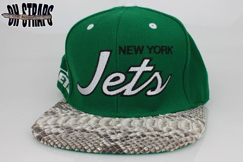 New,York,Jets,Snakeskin,Strapback,Hat