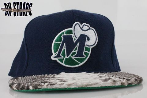 Dallas,Mavericks,Snakeskin,Strapback,Hat