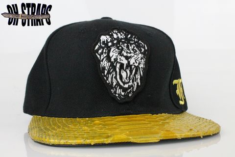Big,Sean,FF,Gold,Snakeskin,Strapback,Hat,*Limited,to,5pcs*