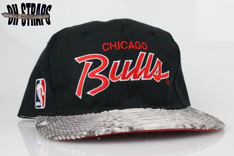 VINTAGE,Chicago,Bulls,SS,Script,Strapback,Hat,*1,Available*