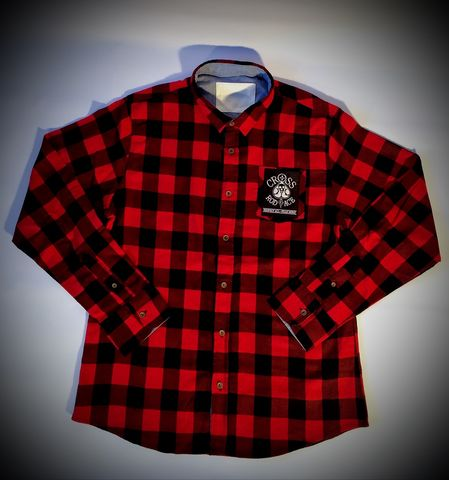 CrossRodAce,Brushed,Flannel,Check,Shirt,-,Red/Black,Cross, Rod, Ace, www.CrossRodAce.com, CrossRodAce, Brushed, Flannel, Check, Warn, Biker, Hotrodder, Men, Long, Sleeved, Shirt, Hotrod, hot, rod, cars, bikes, choppers, bobber, hotrodder, kustom, lowrider, low, rider, drag, racing, racer, dragracer, hell d