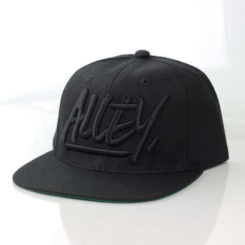 Alley,Black,Logo,Snapback,Karl Alley, Vogue, Metal, plate, snapback, hat, boy london