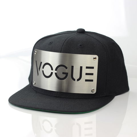 Vogue,Snapback,Karl Alley, Vogue, Metal, plate, snapback, hat, boy london