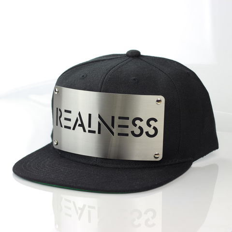 Realness,Snapback, Karl Alley, Metal, plate, snapback, hat, boy london