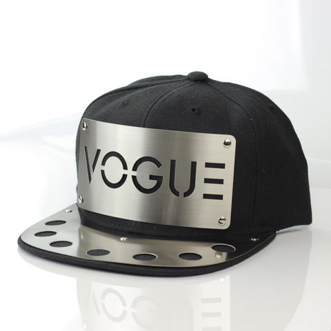 Vogue,Metal,Brim,Snapback, Karl Alley, Metal, plate, snapback, hat, boy london, Metal Brim