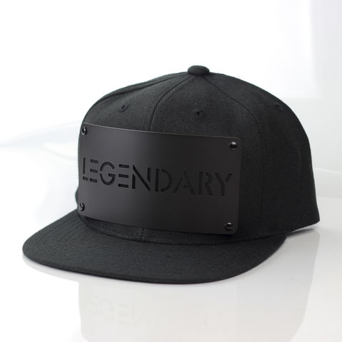 Legendary,Black,on,Snapback,Karl Alley, Metal, plate, snapback, hat, boy london