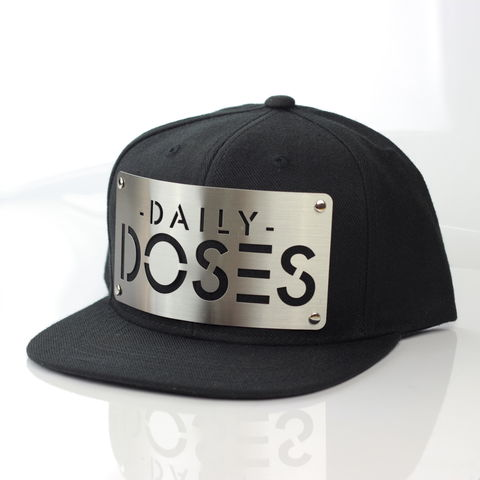 Daily,Doses,Snapback,(Karl,Alley,x,Doses),Karl Alley, Daily Doses, Snapback, (Karl Alley x Daily Doses), Metal, plate, snapback, hat, boy london