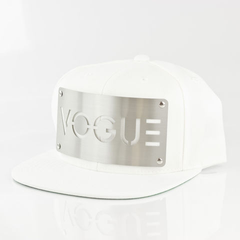 Vogue,White,Snapback,Karl Alley, Vogue, White , Chrome, Snapback, Metal, plate, snapback, hat, boy london