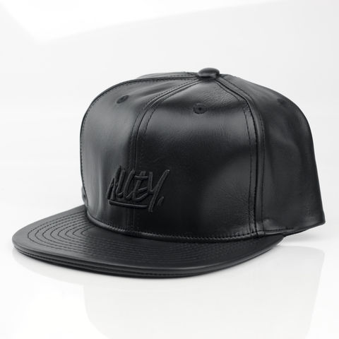 Alley,Logo,Leather,Snapback,Karl Alley, Vogue, Metal, plate, snapback, hat, boy london