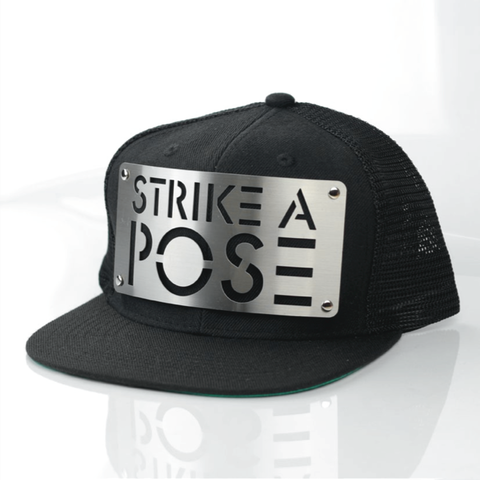 Strike,A,Pose,Mesh,Snapback,Fierce, Karl Alley, Metal, plate, snapback, hat, boy london