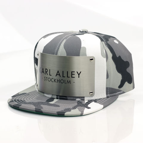 Karl,Alley,Stockholm,Snapback,(Urban,Camo),Karl Alley, Stockholm, Urban camo, Camo, Brushed, Snapback, Metal, plate, snapback, hat, boy london
