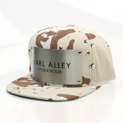 Karl,Alley,Stockholm,Snapback,(Desert,Camo),Karl Alley, Stockholm, Desert camo, Camo, Brushed, Snapback, Metal, plate, snapback, hat, boy london