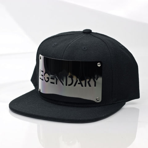 Legendary,Gunmetal,Snapback,Karl Alley, Legendary, Gunmetal, Gun Metal, Snapback, Metal, plate, snapback, hat, boy london