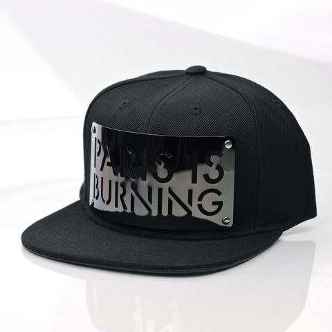 Paris,is,Burning,Gunmetal,Snapback,(Leather,Underbrim),Karl Alley, Paris is burning, Gunmetal, Gun Metal, Snapback, Metal, plate, snapback, hat, boy london