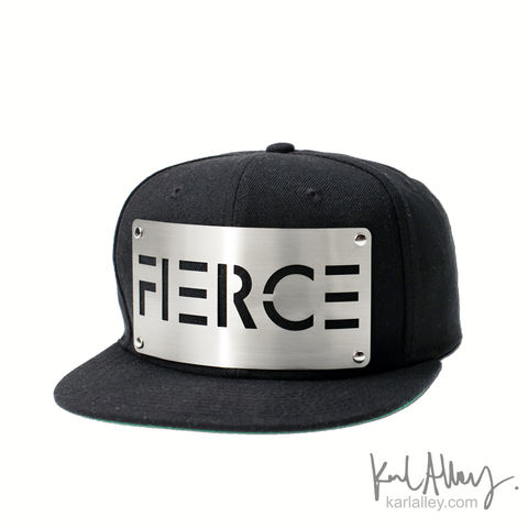 Fierce,Snapback,Hat,Karl Alley, Fierce, Metal, plate, snapback, hat, boy london