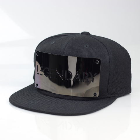 Legendary,Gunmetal,Snapback,(Basic),Karl Alley, Legendary, Gunmetal, Gun Metal, Snapback, Metal, plate, snapback, hat, boy london