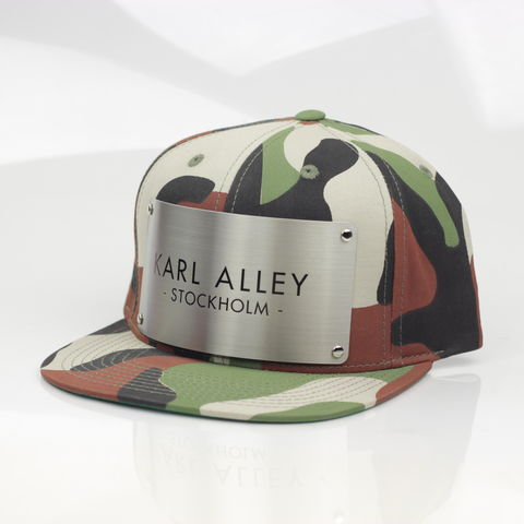 Karl,Alley,Stockholm,Snapback,(Spring,2016,Camo),Karl Alley, Stockholm, Camo , Brushed, Snapback, Metal, plate, snapback, hat, boy london