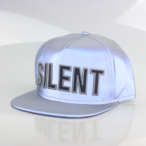 Silent,Reflection,Snapback,(Silver),Karl Alley, Karl Alley x Shaun Bass, Shaun Bass, Silent Reflection, Reflective, 3M, snapback, hat, cap, long clothing, boy london, #karlalley