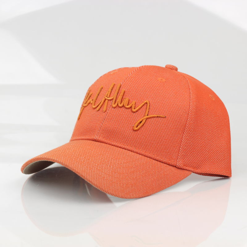 Signature Denim Strapback (Orange) - product images  of
