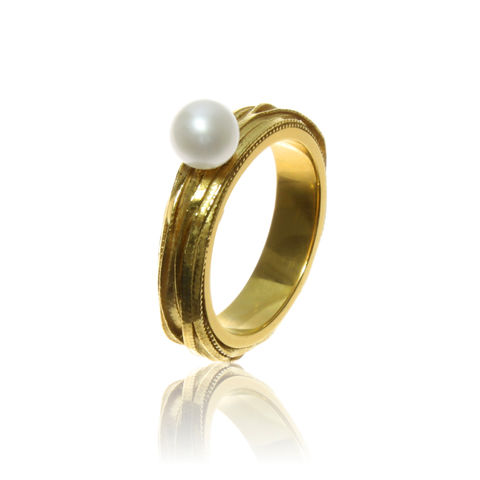 Pearl,Ring,Silver ring, Goldplated Ring, Pearl Ring