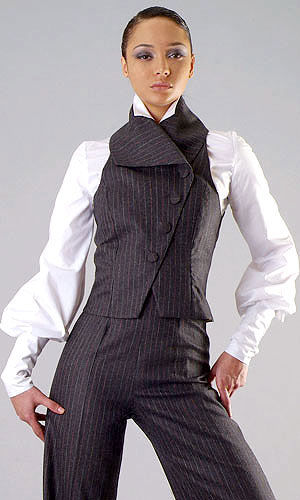 Tailored waistcoat and trousers - Claudette Joseph