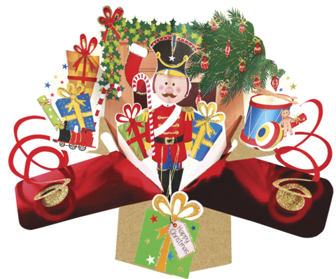 Second,Nature,Xmas,Pop,Ups,-,Nutcracker,Second Nature Pop Ups, Original Pop-ups, Pop up greeting card, Pop up, Pop-up, Pop-ups, Christmas Pop Up, Xmas Pop Up, Nutcracker