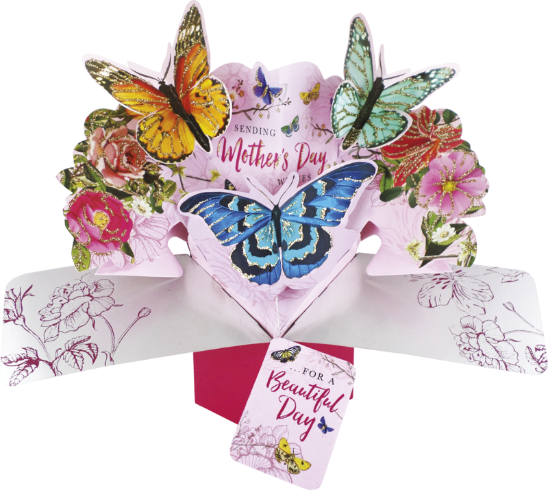 MPOP-007 MOTHER/'S DAY 3D Pop Up Greeting Card by Second Nature