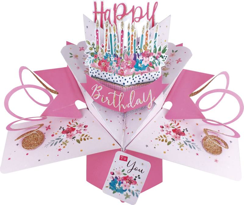 18th Birthday Pop-Up Greeting Card Original Second Nature 3D Pop Up Cards