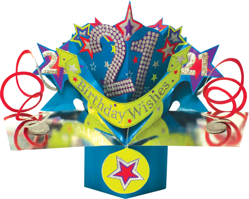Second Nature Pop Ups - 21st Birthday (Stars) - product images  of