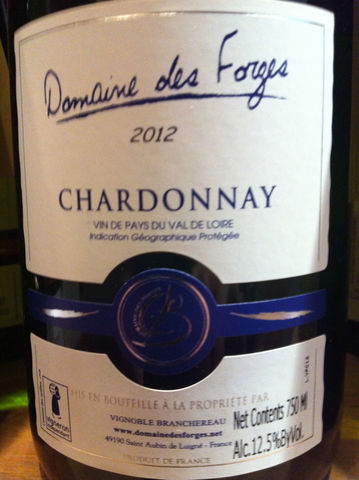 Forges,Chardonnay,Loire,Valley,VDP,2015,Europa Wine Merchant,France,Loire Valley