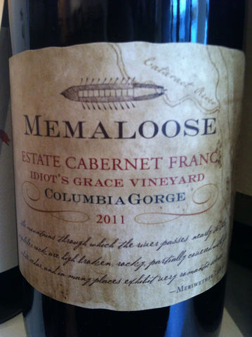 Memaloose,Cabernet,Franc,Estate,Idiot's,Grace,2013,Europa Wine Merchant,United States,Columbia Gorge
