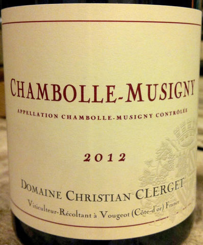 Christian,Clerget,Chambolle-Musigny,2012,Europa Wine Merchant,France,Burgundy