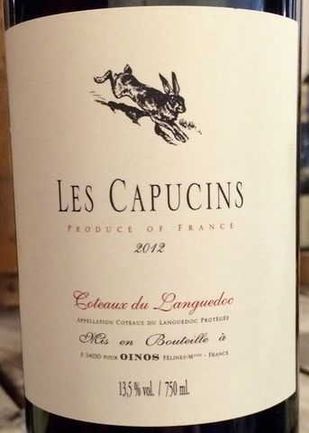 Les,Capucins,Coteaux,du,Languedoc,2012, Rhone Red, Southern French Red