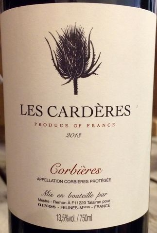 Les,Carderes,Corbieres,2013,Languedoc, Rhone Red, Southern French Red