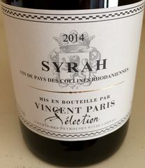 Vincent Paris Collines Rhodaniennes Syrah 2014  - product images 1 of 1