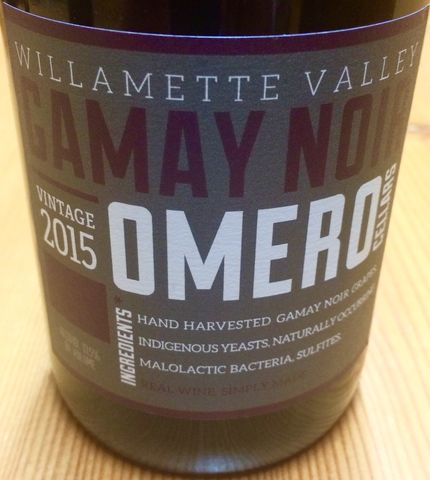 Omero,Gamay,Willamette,Valley,2015