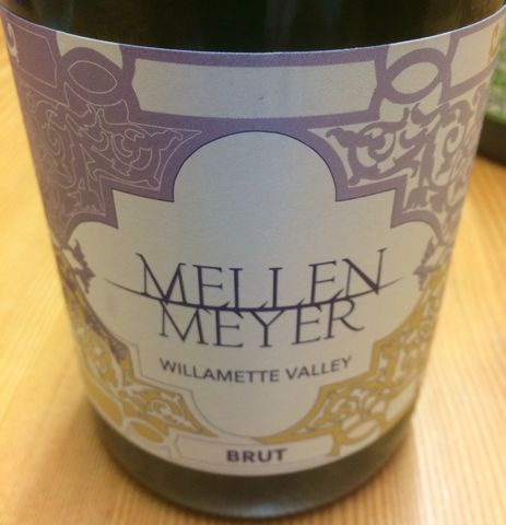 Mellen,Meyer,Brut,Reserve,Willamette,Valley,NV,oregon sparkling wine, domestic sparkling wine, Willamette Valley, champagne
