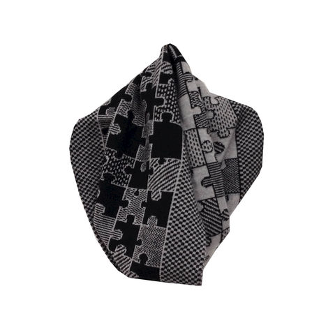 PUZZLE,Infinity,Scarves,-,Black,and,grey,colourway,scarves, scarf, infinity scarf, gifts, winter accessories