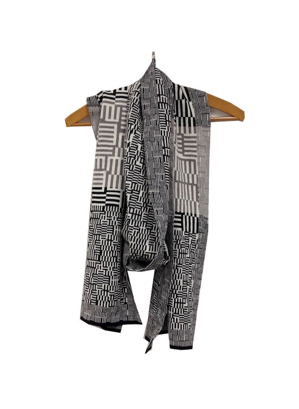 AMAZING MAZE Scarf - Black, white, grey - product images  of