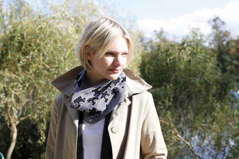 PUZZLE,Infinity,Scarves,-,Black,and,white,colourway,scarves, scarf, infinity scarf, gifts, winter accessories
