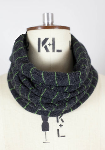 Striped,charcoal,grey,tubescarf.,100%,Scottish,Lambswool.,Two,colourways.,Knitwear, scarf, scarves, Made in Britain, 100% Lambswool