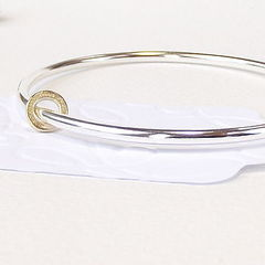 Silver And Nine Carat Gold Bangle - product images  of