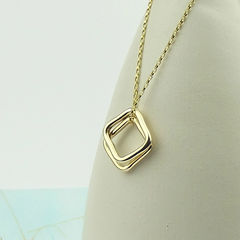 Solid,9ct,Gold,Squares,Necklace,gold necklace