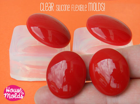 2,Smooth,Oval,Cabochons,Clear,Mold,,,28x24,mm,Cabochon,cavities,,Mold,to,make,resin,Earrings,,Ring,Top,Pendants,Supplies,Bead,silicone_mold,jewelry_making,resin_supplies,mold_for_pendant,clear_mold,mold_for_earrings,mold_for_resin,mold_for_necklace,resin_mold,cabochon_mold,resin_cabochon,oval_mold,clear silicone rubber