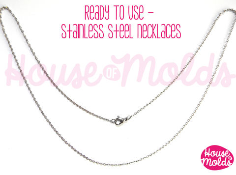 Stainless,Steel,Necklace,ready,to,Use/wear-,chain,1,mm,with,Lobster,Clasp-matinee,size,51,cm-just,add,your,pendant,and,wear,it!,Jewelry,findings,resin_hole_bead,steel_chain,bead_supplies,resin_crafters,stainless_steel,steel_necklace,pendant_chain,resin_chain,necklace_for_sphere,sphere_chain,pendant_necklace,nickel free,stainless steel