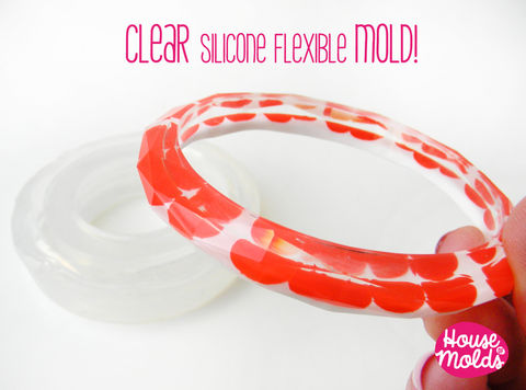 Faceted,Plain,Thin,Bracelet,Clear,Mold,,Clear,Rubber,mold,mold,to,make,faceted,bangle,inner,diameter,6,8,cm,x,1,tall,Faceted plain Bangle mold,bangle mold,resin mold-Supplies,Commercial,Tool,bangle_mold,resin_bangle_mold,resin_supplies,resin_crafters,europeanstreeteam,Clear_mold,modern_bangle,Silicone_mold,Clear_bracelet,resin_bangle,resin_mold,faceted_bangle_mold,clear