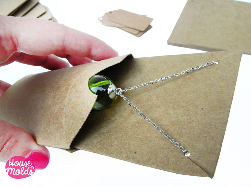 Kraft Paper Simple Blank Jewelry Packaging Set Pillow Bo Pendants Earrings Display Card And Tags House Of Molds